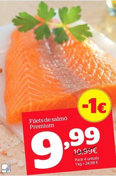Oferta de Filetes de salmón por 9,99€