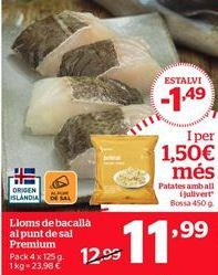 Oferta de Lomos de bacalao por 11,99€
