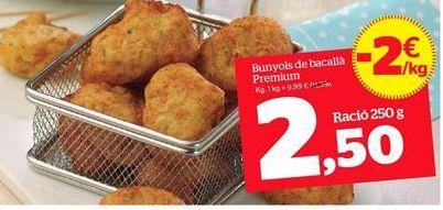 Oferta de Buñuelos de bacalao por 9,99€