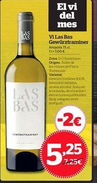 Oferta de Vino blanco por 5,25€