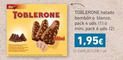 Oferta de TOBLERONE HELADO BOMB脫N O BLANCO por 1,95鈧�