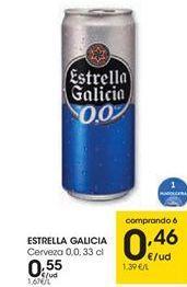 Oferta de Cerveza Estrella Galicia por 0,55€