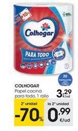 Oferta de Papel de cocina Colhogar por 3,29€
