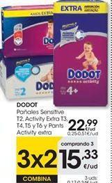 Oferta de Pañales Dodot por 22,99€