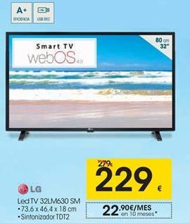 Oferta de Tv led 32'' LG por 229€