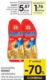 Oferta de Detergente lavavajillas Somat por 5,87€