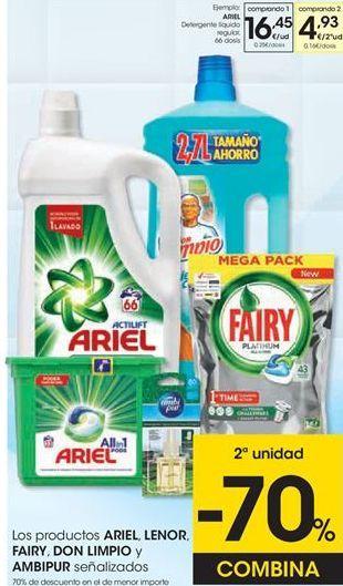 Oferta de Detergente gel Ariel por 16,45€