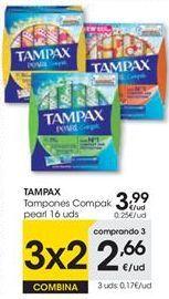 Oferta de Tampones Tampax por 3,99€