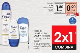 Oferta de Desodorante Dove por 1,8€