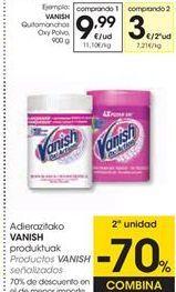 Oferta de Detergente en polvo Vanish por 9,99€