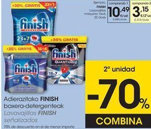 Oferta de Detergente lavavajillas Finish por 10,49€