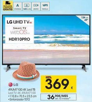 Oferta de Tv led LG por 369€