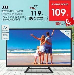 Oferta de Tv led Td systems por 119€