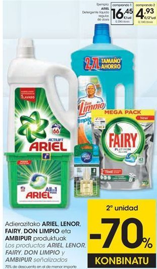 Oferta de Detergente líquido Ariel por 16,45€