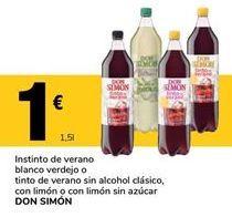 Oferta de Tinto de verano Don Simón por 1€