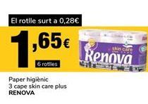 Oferta de Papel higiénico Renova por 1,65€