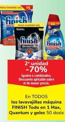 Oferta de En TODOS los lavavajillas máquina FINISH Todo en 1 Max, Quantum y geles por