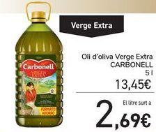 Oferta de Aceite de oliva Virgen Extra CARBONELL por 13,45€