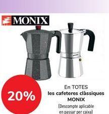 Oferta de En TODAS las cafeteras clásicas MONIX  por
