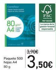 Oferta de Paquete 500 hojas A4  por 3,5€