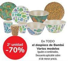 Oferta de En TODO el despiece de bambú Varios modelos, iguales o combinados  por