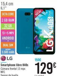 Oferta de Smartphone Libre K40s  por 129€