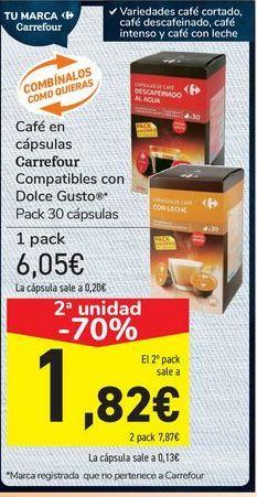 Oferta de Café en cápsulas Carrefour  por 6,05€