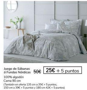 Oferta de Juego de sábanas o fundas nórdicas  por 25€