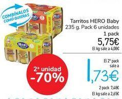 Oferta de Tarritos HERO BABY  por 5,38€