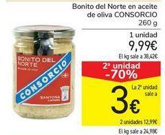Oferta de Bonito del Norte en aceite de oliva CONSORCIO por 9,99€