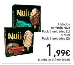 Oferta de Helados Bombón NUII por 1,99€
