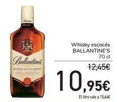 Oferta de Whisky escocés Ballantine's por 10,95€