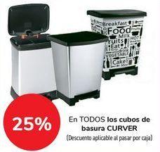Oferta de En TODOS los cubos de basura CURVER por