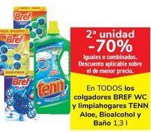 Oferta de En TODOS los colgadores BREF WC y Limpiahogares TENN Aloe, Bioalcool y Baño  por