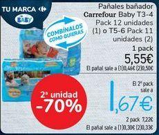 Oferta de Pañales bañador Carrefour Baby por 5,55€