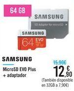 Oferta de MicroSD EVO Plus + adaptador SAMSUNG  por 12,9€