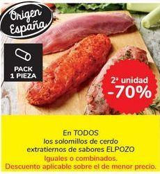 Oferta de En TODOS los solomillos de cerdo extratiernos de sabores ELPOZO por