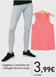 Oferta de Leggins o camiseta sin mangas técnica mujer  por 3,99€