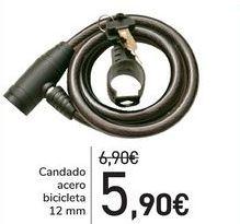 Oferta de Candado acero bicicleta  por 5,9€
