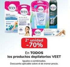 Oferta de En TODOS los productosd depilatorios VEET  por
