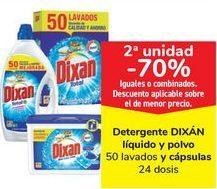 Oferta de Detergente DIXÁN líquido y polvo y cápsulas por