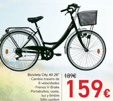 """Oferta de Bicicleta City 40 26"""" por 159€"""