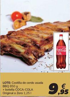 Oferta de Costilla de cerdo asada BBQ + botella COCA-COLA por 9,95€