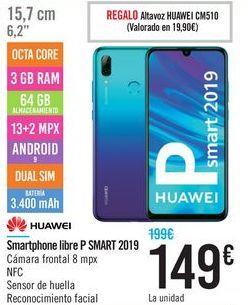 Oferta de Smartphone libre P SMART 2019 HUAWEI por 149€