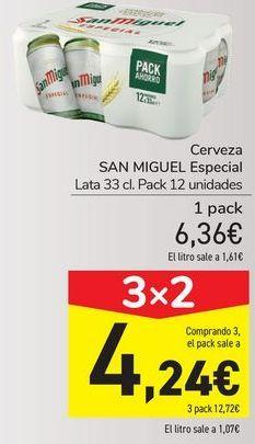 Oferta de Cerveza especial San Miguel por 6,36€
