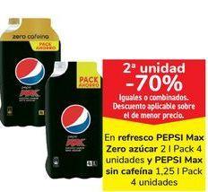 Oferta de Refresco PEPSI MaX Zero azúcar o PEPSO Max sin cafeina  por