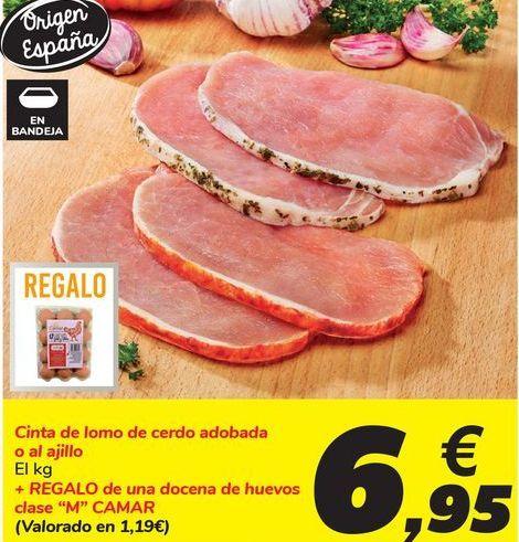 Oferta de Cinta de lomo de cerdo adobada o al ajillo por 6,95€