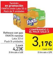 Oferta de Refresco con gas FANTA Naranja  por 4,23€