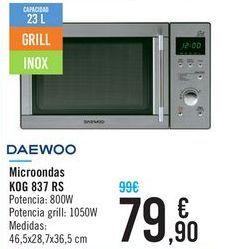 Oferta de Microondas KOG 837 RS DAEWOO  por 79,9€