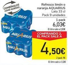 Oferta de Refresco de limón o naranja Aquarius por 6,03€